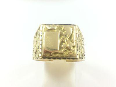 gran venta 2fedd b3a8d Anillo sello en oro para caballero