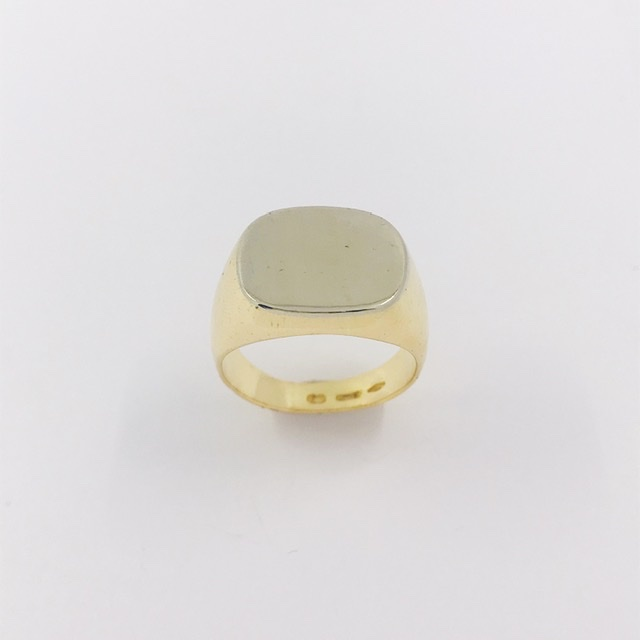 Anillo sello rectangular en oro 18kt