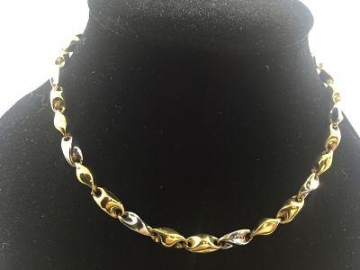 b5459b0ddae3 Cadena de oro blanco y amarillo