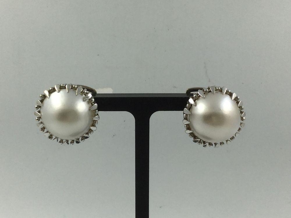c547e8d635fb Pendientes de oro blanco con perla japonesa