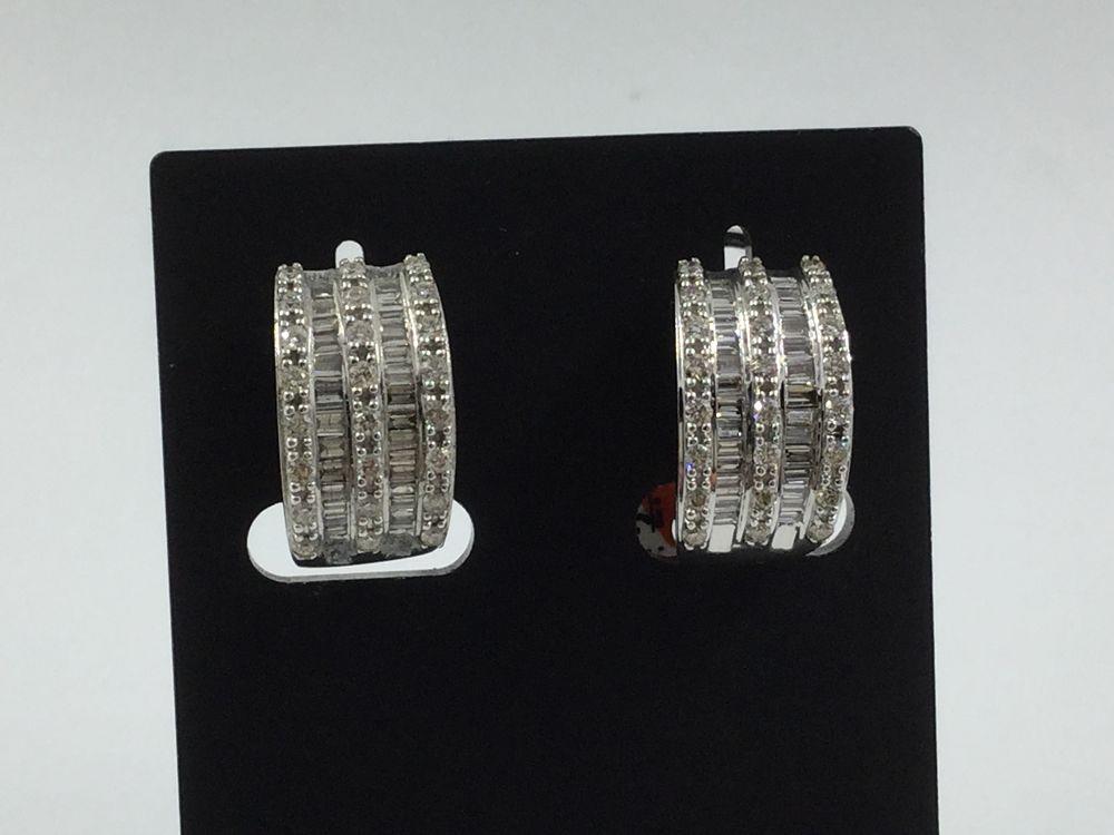 db27bbdf3b1b Pendientes en oro blanco con diamantes