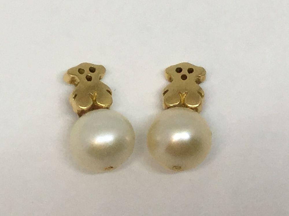 8d5986d01c9c Pendientes Tous en oro y perla