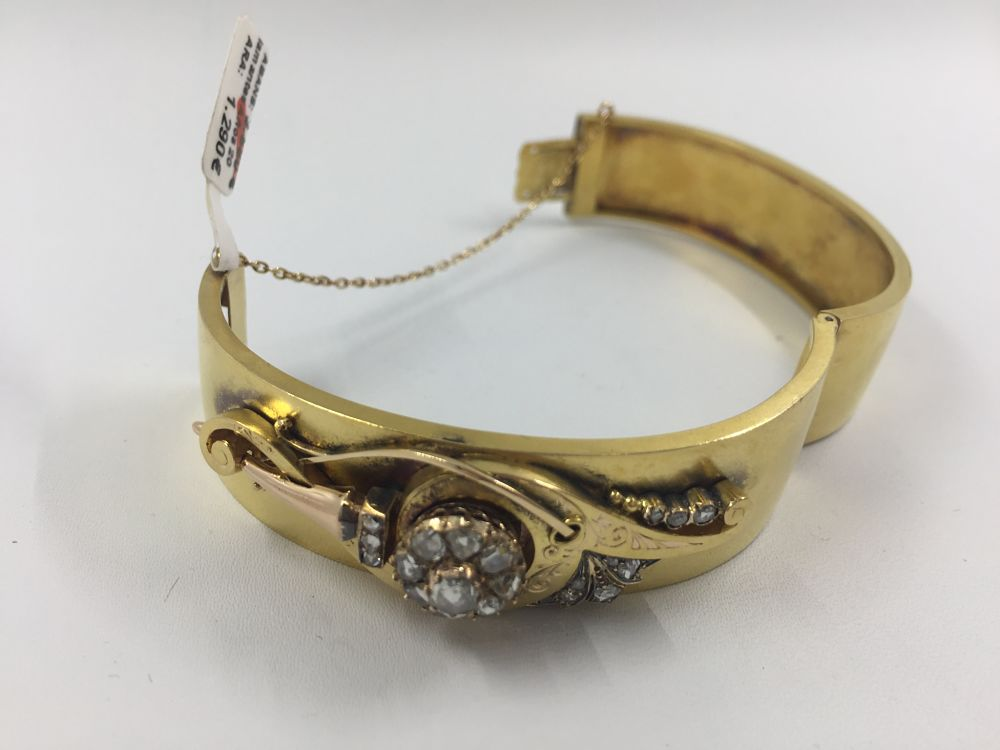 9d816c6922dc Pulsera esclava en oro y diamantes